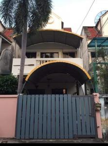 For SaleTownhousePinklao, Charansanitwong : CH0096A Townhouse for sale independent. Muang Phet Village Village 4 Soi Thung Mangkorn 10 Chim Phli, Taling Chan