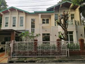 For RentHouseYothinpattana,CDC : 2 storey detached house for rent Big back / corner, 87 square wa., Liab Road, Ekamai Ramintra Expressway Near Crystal Park CDC rent 65,000 / month