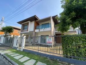For SaleHouseNawamin, Ramindra : 2 storey detached house for sale (corner) Burasiri Village Phaholyothin-Saimai SUNRISER house type, area 77 sq.wa., usable area 223 sq m, 4 bedrooms, 4 bathrooms.