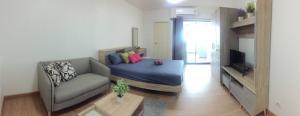 For RentCondoChengwatana, Muangthong : Condo for rent Supalai Loft Chaengwattana 🥝🥝 Floor 23, size 30 sq.m., with washing machine.