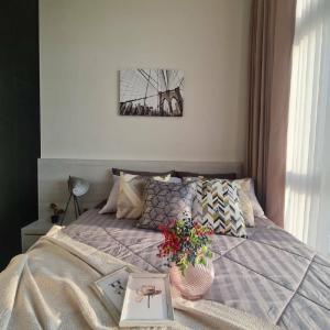 เช่าคอนโดอ่อนนุช อุดมสุข : The Line Sukhumvit 101 for Rent,  1bedroom,  30fl., beautiful river view, 14,000B **free wifi**/m
