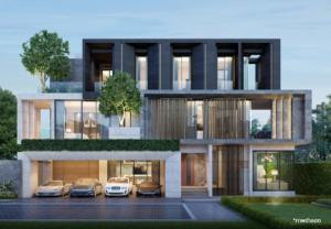 For SaleHouseYothinpattana,CDC : 3-storey luxury single house With private swimming pool in every house Under luxury brands Number 1 company