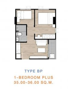 Sale DownCondoLadprao, Central Ladprao : Room 1BP - Planing + good position, continue down lightly