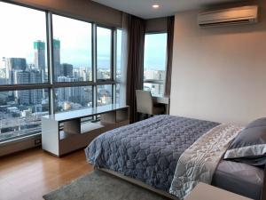 For RentCondoRama9, RCA, Petchaburi : The Address Asoke, 2-Bedroom, 2 Bathrooms, 75.5 Sqm, on 37 Fl., Nice view, corner unit, fully furnished with appliances. Rent at 40,000THB / Month.Contact K. Urai 086-604-3630