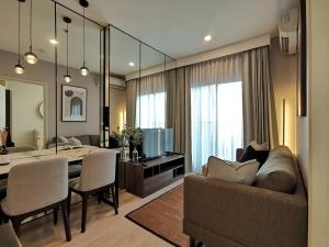 For RentCondoRatchadapisek, Huaikwang, Suttisan : Noble revolve Ratchada 1 Condo for rent: 1 bedroom for 26 sqm. on 19th floor.nice decorated.With fullyfurnished and electrical appliances.Just 130 m. to MRT Thai Cultural Center, 300 m. to Esplanade Ratchada, 280 m. t
