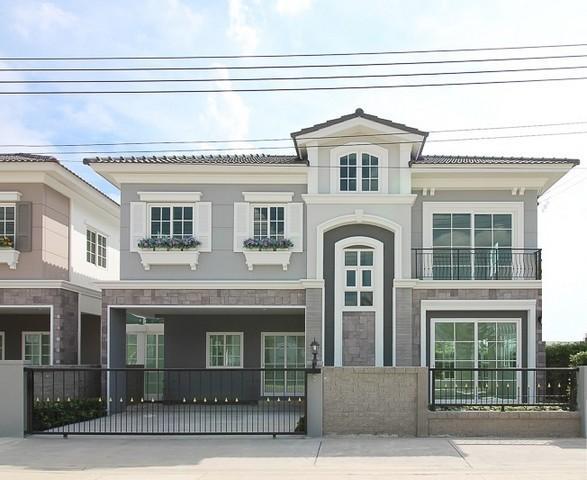 ขายบ้านท่าพระ ตลาดพลู : ขายบ้านเดี่ยว2 ชั้นหลังมุม ย่านกัลปพกฤษ์ สาธร  ใกล้BTS วุฒากาศ โกลเด้นนีโอ สาทรType London