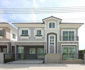 For SaleHouseThaphra, Wutthakat : 2 storey detached house for sale, behind the corner of Kanlapakkrit Sathorn area, near BTS Wutthakat Golden Neo Sathorn Type London