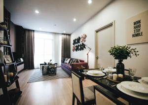For RentCondoRama9, RCA, Petchaburi : A.M - Condo for Rent The capital Eakamai Thonglor,3 beds 3 Baths with separated maid bed and bath, 170 sqm