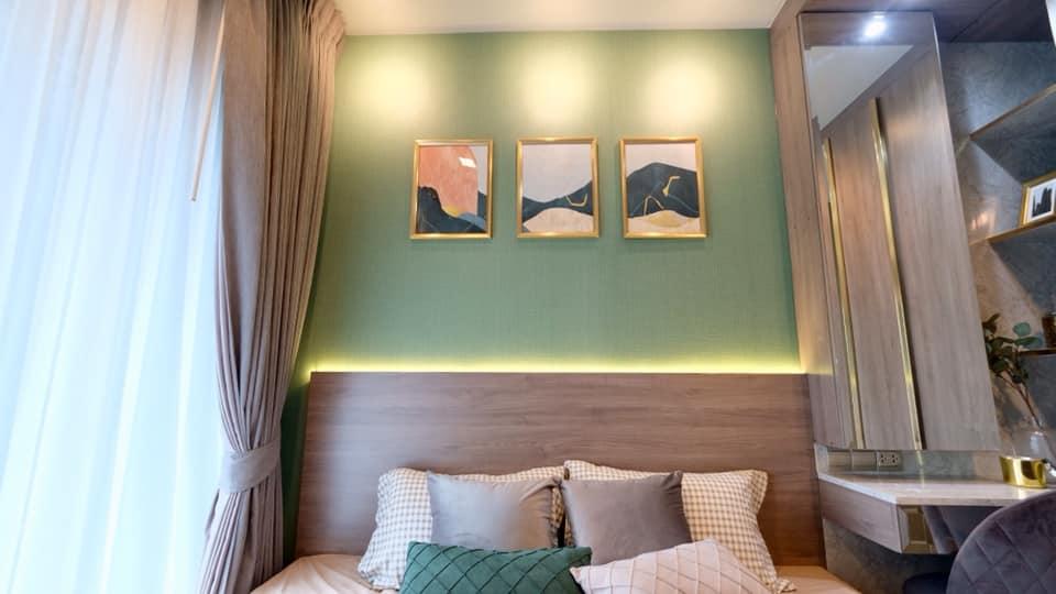 เช่าคอนโดพระราม 9 เพชรบุรีตัดใหม่ : Life Asoke Rama9 Condo for rent : 2 bedrooms 1 bathroom for 35 sqm. garden view West facing on 23rd floor A building.Just 300 m. to MRT Rama 9 , 550 m. to ARL Makkasan.Rental only for 24,000 / m.