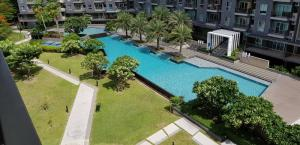 For SaleCondoBangna, Lasalle, Bearing : Corner room, pool view, garden view, pleasant atmosphere