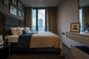 For RentCondoRama9, RCA, Petchaburi : Condo for rent, The line Asoke-Ratchada, size 35.67 square meters, 1bed 1bath, price only 22000 only, very beautiful room, ready to move in.