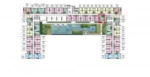 Sale DownCondoRamkhamhaeng, Hua Mak : ^^ The Livin Ramkhamhaeng, Studio room 22.7 sq.m., 1.54 million baht, pool view, pay only 1,440 baht per month.