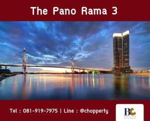 ขายคอนโดพระราม 3 สาธุประดิษฐ์ : *One Bed Plus + River View* The Pano Rama3 68 sq.m. only 8.6 MB 25+ Floor [Chopper 081-919-7975]