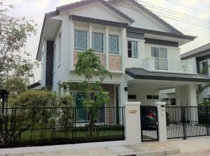 For RentHouseChengwatana, Muangthong : HR582 2 storey detached house for rent, area 63 sq m. Behind the corner of Manthana Village, Chaengwattana, fully furnished.