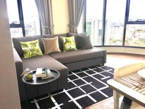 For RentCondoAri,Anusaowaree : Condo for rent: IDEO Q VICTORY - 2 bedrooms, 1 bathroom - Size 48 sq m. - Floor 32, the view will never be blocked forever. fully furnished All electrical appliances, rent 35,000 baht.
