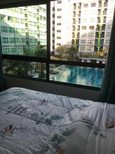 For RentCondoVipawadee, Don Mueang, Lak Si : For rent, Grene Condo Phase 2 Corner room, pool view, 34 sqm.