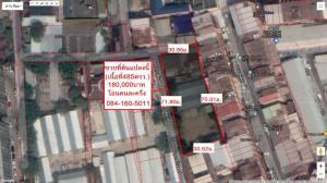 For SaleLandRatchadapisek, Huaikwang, Suttisan : Land for sale 485 square wah Soi Vibhavadi Rangsit 1 (brown plan, Yor. 9-10)