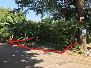 For SaleLandRattanathibet, Sanambinna : Land for sale 122 sq m. Soi Rattanathibet 22, the mouth of the alley is the Bang Kraso BTS station.
