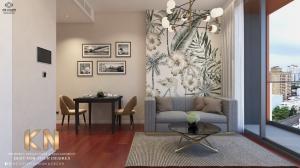เช่าคอนโดสุขุมวิท อโศก ทองหล่อ : KHUN By YOO ให้เช่า 1 ห้องนอน 1 ห้องน้ำ ชั้น 8 ขนาด 50 ตร.ม. ตกแต่งสวยงาม
