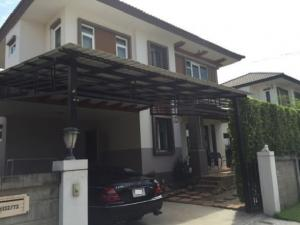 For RentHouseBang Sue, Wong Sawang : 2 storey detached house for rent, Casa Ville Ratchaphruek-Rama 5, Mahajesada Bodin Bridge, beautiful house, fully furnished, 4 air conditioners, residential only Pets are not allowed.