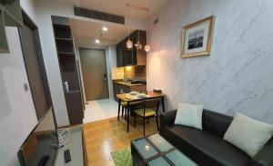 For RentCondoSukhumvit, Asoke, Thonglor : For rent, Keyne By Sansiri, fully furnished room, cheap price, 1 bedroom, 1 bathroom, 35 sq m, high floor room, fully furnished, ready to move in, call 095-547-7160 postter