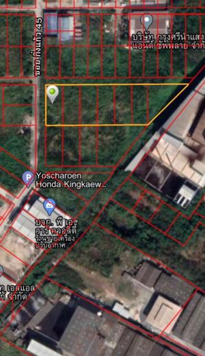 For SaleLandSamrong, Samut Prakan : Land for sale in Soi King Kaew 45