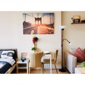 For RentCondoBangna, Lasalle, Bearing : SN272 Condo for rent, Ideo O2 Bangna, Building A, 10th floor, beautiful room, finished in this room, so good.