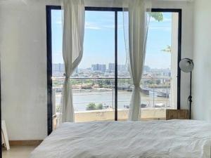 For RentCondoRama3 (Riverside),Satupadit : Condo for rent: Supalai Casa Riva Vista 1, 43.5 sq m. Studio, 20th floor, north, new beautiful room