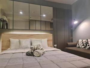 For RentCondoOnnut, Udomsuk : Condo for rent: Ideo Sukhumvit 93, 35th floor, Re63-0082.