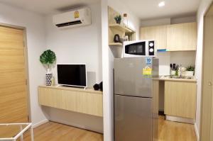 ขายคอนโดสำโรง สมุทรปราการ : ขาย Tropicana @BTS เอราวัณ 2นอน ห้องสวยโมเดิร์น มีระเบียง ชุดโต๊ะทานข้าว เครื่องซักผ้า ตู้เย็น เครื่องใช้ไฟฟ้า+เฟอร์ครบ ใกล้BTS