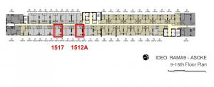 ขายดาวน์คอนโดพระราม 9 เพชรบุรีตัดใหม่ : Ideo Rama9-Asoke 26 ตร.ม. หน้าสัญญาเพียง 3.19 ล้าน ชั้นสูง ทิศ ตอ. หรือเพียง 122,xxx บาท/ตร.ม. เท่านั้น