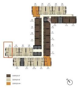 ขายคอนโดสาทร นราธิวาส : ขาย Knightsbridge Prime Sathorn  DUPLEX ห้องมุม ชั้น 30 ห้อง 3023 เนื้อที่ 44.54 ตรม. (30.5+13.5) ราคา 6.69 ลบ.