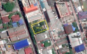 For SaleLandRamkhamhaeng,Min Buri, Romklao : Land for sale, size 101 square meters, Soi Sihaburanukit 16, near the train station.