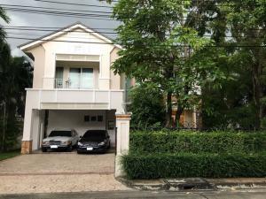 For RentHouseLadkrabang, Suwannaphum Airport : RHT384 House for rent. Perfect Master Peach Rama 9 Village, near Stamford University