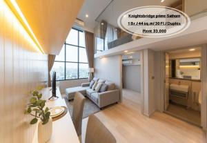 For RentCondoSathorn, Narathiwat : Rent - Knights bridge prime Sathorn / 1 bed (Duplex) / 44 sqm. / 30th floor / near BTS Chong Nonsi Rent 33,000