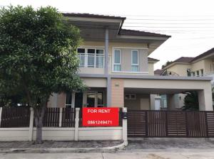 For RentHouseVipawadee, Don Mueang, Lak Si : Near Don Mueang, Rangsit University, 27,000 baht, house for rent, detached house, Seranee Casa, with furniture + 4 air conditioners, 3 bedrooms, 3 bathrooms