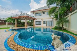 For SaleHouseChonburi, Pattaya, Bangsa : New house for sale with swimming pool. Sold with furniture and decorations, very good value