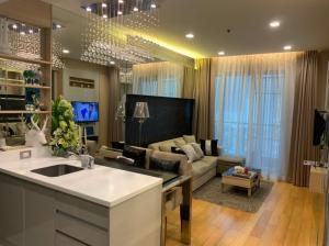 For SaleCondoRama9, RCA, Petchaburi : 大 ♛♞ The Address Asoke ♕❄❄ ((best price) South waterfall view)) 1 Bed 45 Sqm 5.99M 大 ♛♞