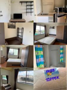 For RentCondoLadkrabang, Suwannaphum Airport : Condo Lumpini (LPN) Romklao-Suvarnabhumi Beautiful room # Ready to move in # 5500 baht / month 👌 size 21.5 sq m.
