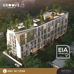 Sale DownCondoLadprao, Central Ladprao : Sell down payment at the cost price !!! Quick before adjusting the price !!! (Selling by Owner) Groove Vibe Ladprao 18 Room 1 Bed Plus EIA Approved