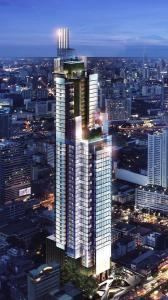 For RentCondoSilom, Saladaeng, Bangrak : Condo for rent, Ashton Silom, ready to move in, 35 sqm, starting price 25,000 baht