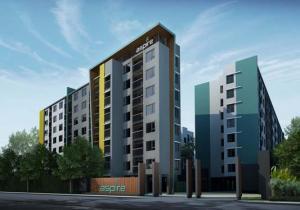 For RentCondoLadprao101, The Mall Bang Kapi : Condo for rent, Aspire Ladprao 113, near MRT Bangkapi, ready to move in, 25 sqm, starting price 7,000 baht