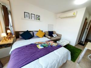 For SaleCondoOnnut, Udomsuk : Borrow a hundred thousand !! Elio Del Ray, beautiful room, fully furnished, good location, near BTS Udom Suk, very convenient to travel!
