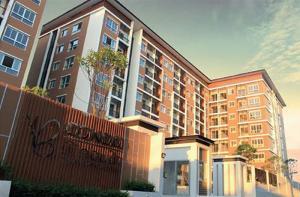For RentCondoSamrong, Samut Prakan : Condo for rent, B Condo Bangna, ready to move in, 31 sqm, starting price 6500 baht Line ID : @likebkk