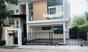 For SaleHouseLadkrabang, Suwannaphum Airport : Detached house for sale Nirvana Beyond Srinakarin(Suanluang Rama 9)54.2 Sqw3 storeys house Luxury Concept Ever Green Living Style : Natural ModernType Keen : 4 Beds 4 Baths 310 sqm ,3 parking lot
