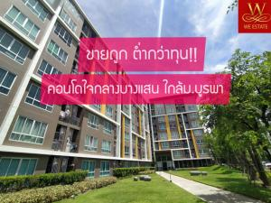 For SaleCondoChonburi, Pattaya, Bangsa : Sale is lower than cost. Condo Bangsaen near Burapha University with tenants for investors, D Condo Campus Resort Bangsaen, the hottest project in this zone.