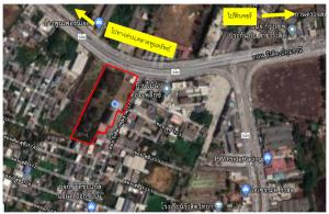 For SaleLandRangsit, Patumtani : Sale of land with buildings 10 rai near the expressway, near the Red Line train, Rangsit station