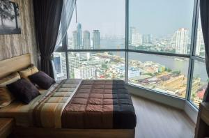 For RentCondoSathorn, Narathiwat : Condo for rent, Rhythm sathorn, 40 sq m., Full river view, corner room, ready to move in 🔥🔥 Price 30,000 baht, a big discount.