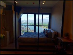 For RentCondoRattanathibet, Sanambinna : Rent Condo at river side, Politan Rive, room at High floor with river view, washing machine in room