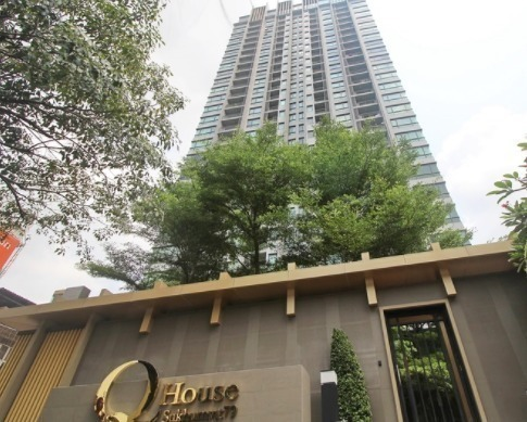 For SaleCondoOnnut, Udomsuk : Q House Sukhumvit 79 (Beautiful room, fully furnished, full height, unblocked view, only 125k / sq m)